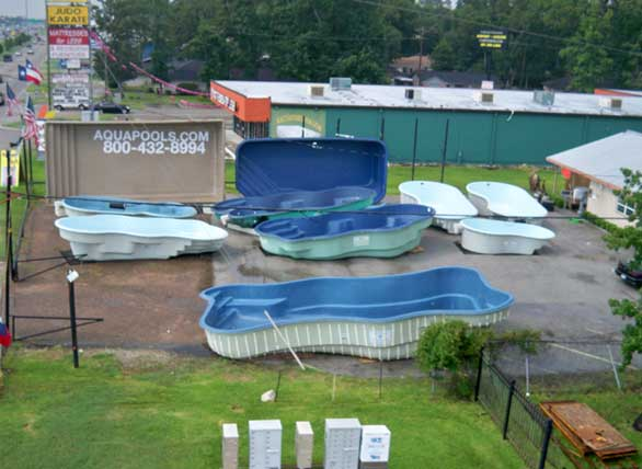 The aqua group fiberglass pools spas swimming pool for Pool builder quotes