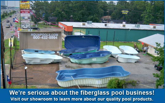 The aqua group fiberglass pools spas swimming pool for Affordable pools houston texas