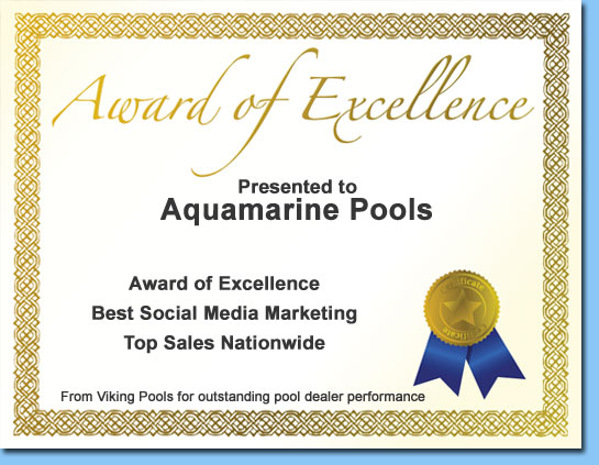 aquamarine pools award of excellence Viking Pools