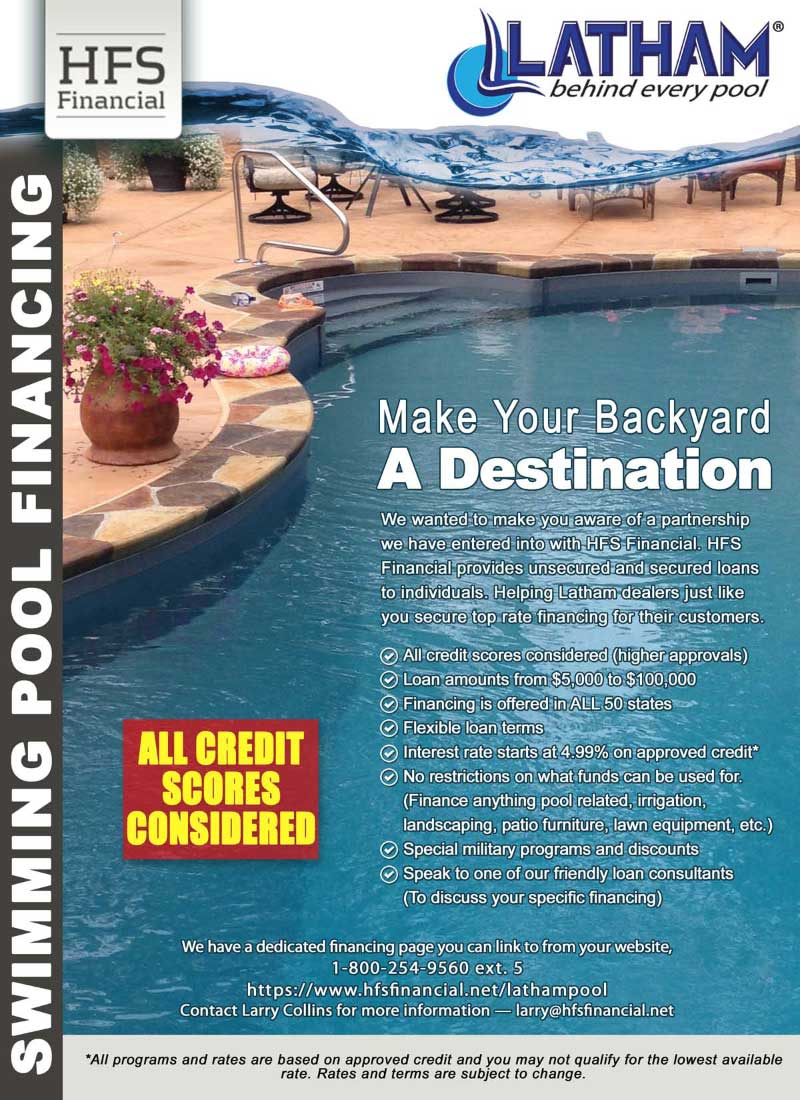 Dash pools financing for swimming pools by viking pools for Swimming pool financing
