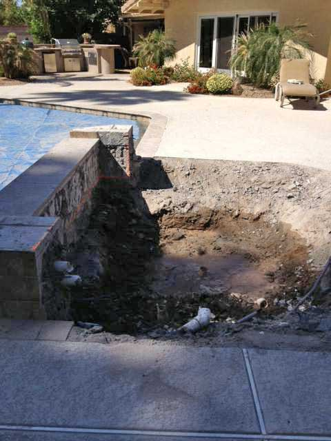 swimming pool and spa settling issues