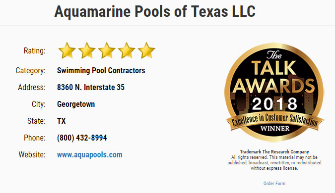 Talk of the Town Texas, Fiberglass Pools San Antonio TX
