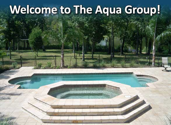 Rectangle Pool With Spa the aqua group fiberglass pools & spas | welcome austin, dallas