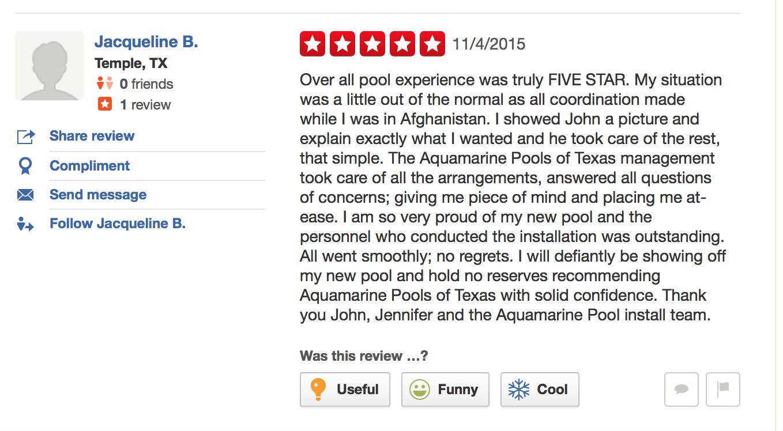 Aquamarine Pools Aqua Pools Customer Reviews And