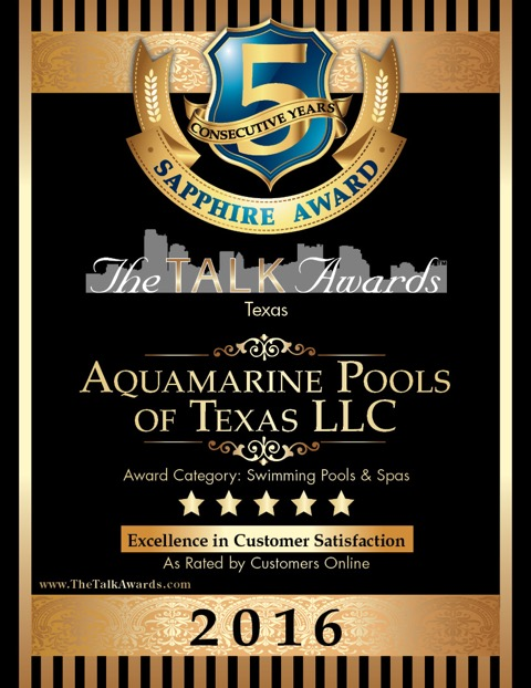 talk of the town award aquapools