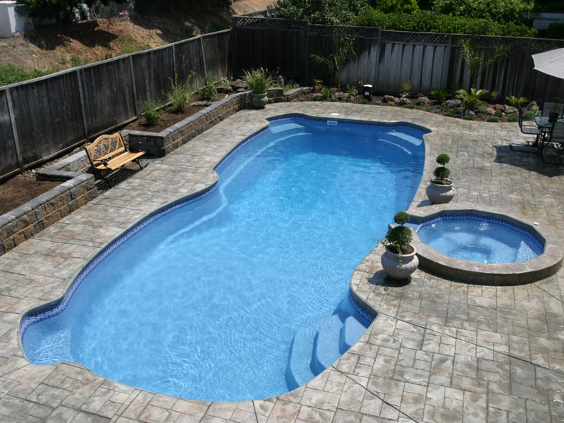 blue hawaiian fiberglass swimming pools