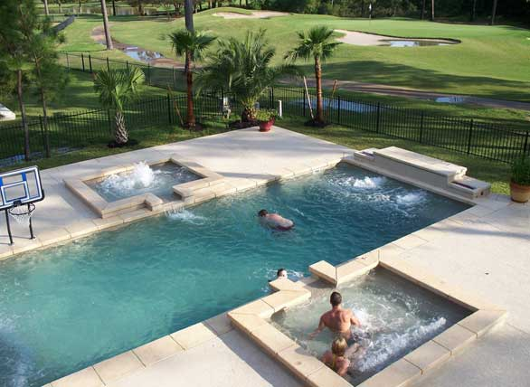 Fiberglass pool kits trendy crystal beach fiberglass pool for Pool design houston tx