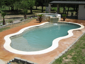 viking fiji pool model 1 with overflow spa