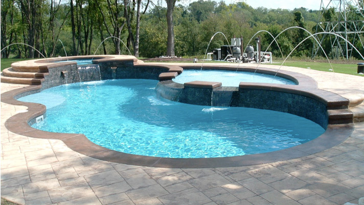 Aquamarine Pools Trilogy Pools Tanning Ledges For Austin