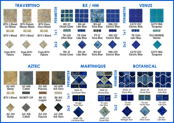 Pool Tile Options