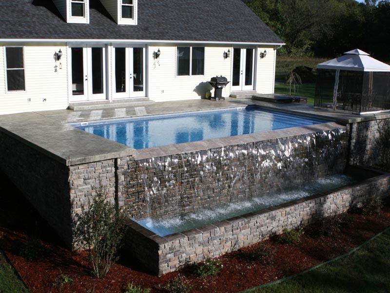 The Aqua Group Fiberglass Pools Amp Spas Vanishing Edge