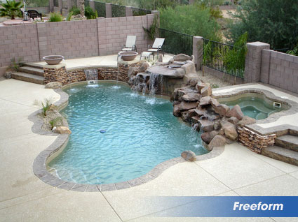 Freeform inground swimming pool builder in texas